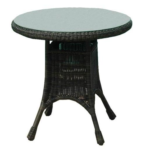 "36"" All Weather Outdoor Wicker Dining Table"