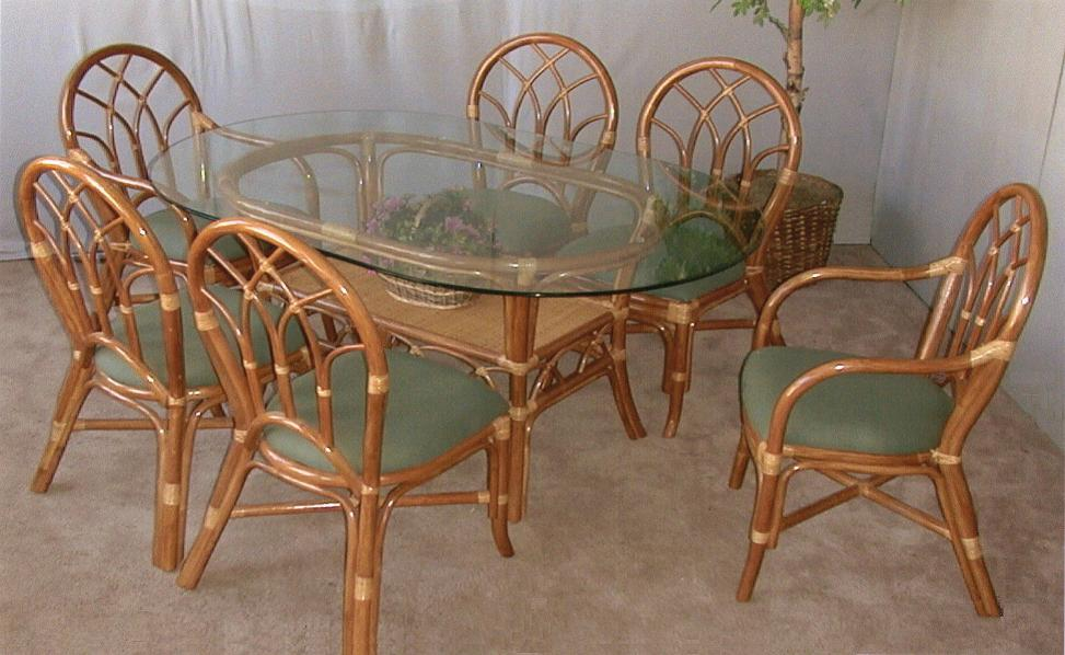 Aruba 7 Piece Rattan Dining Set