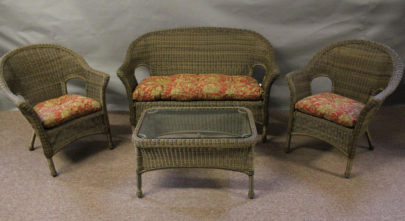 Darby 4 Piece Outdoor Wicker Seating Set
