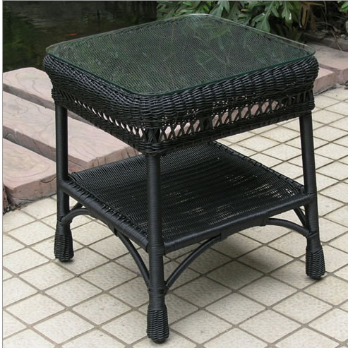 Mackinac Outdoor Wicker End Table