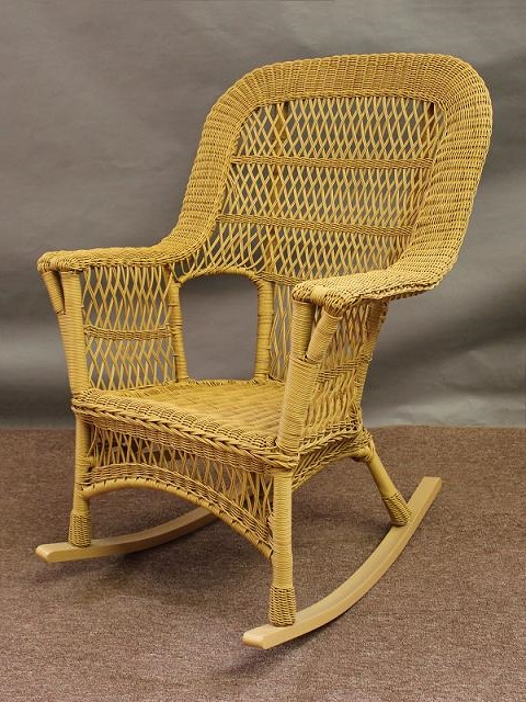 Honey Finish Mackinac High Back Wicker Rocker - Special $149.00