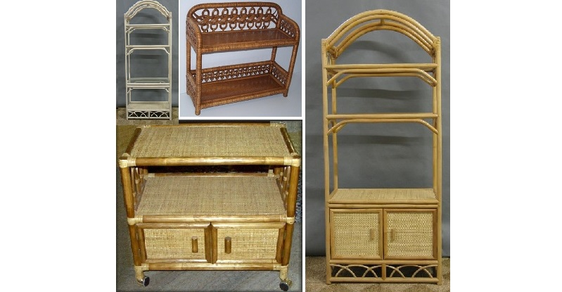 Wicker Carts, Shelves TV Stands