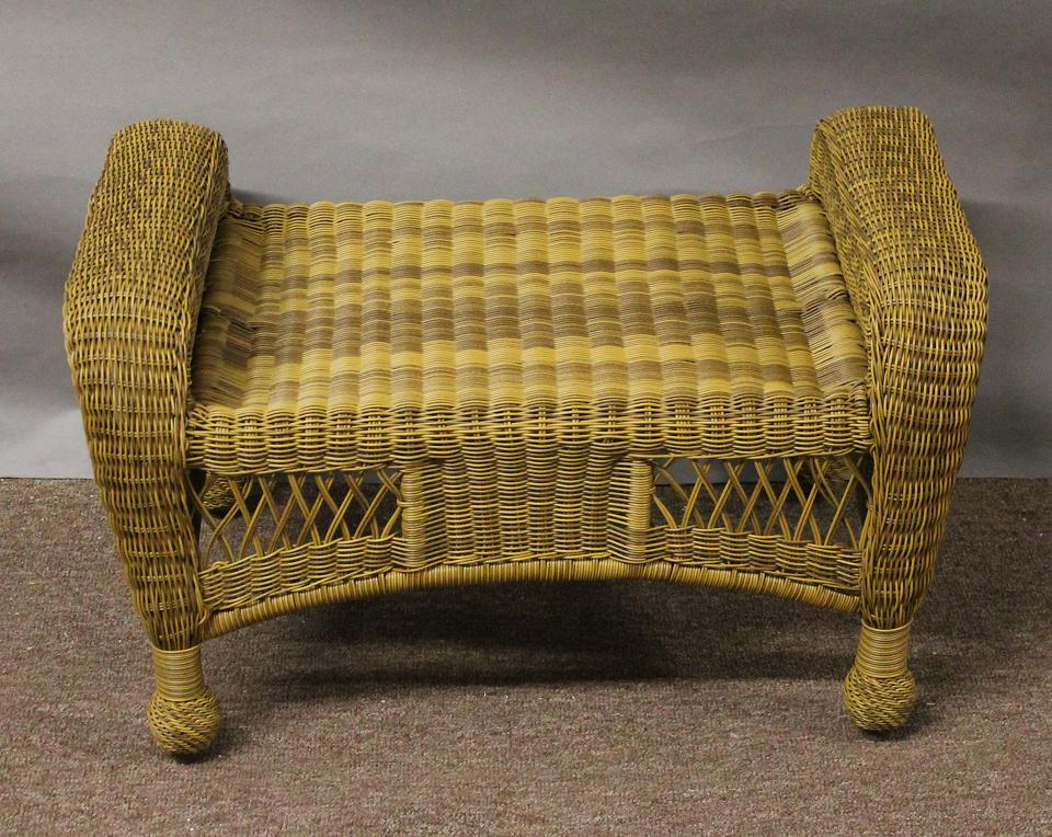 St Lucia Outdoor Wicker Ottoman