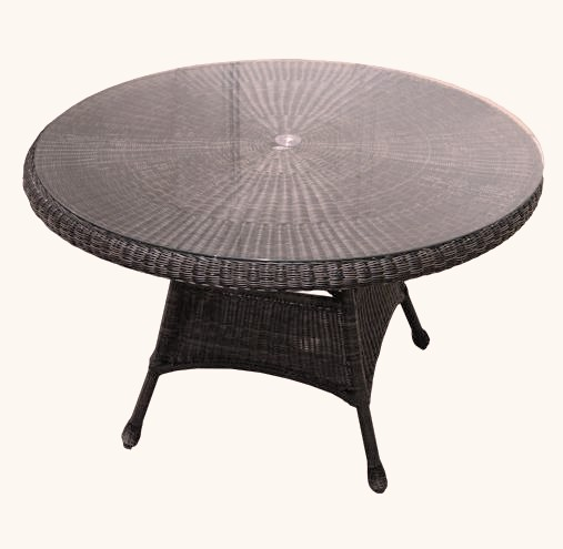 "48"" Outdoor Wicker Dining Table"