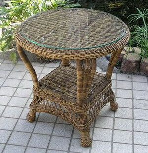 Charleston Outdoor Wicker End Table