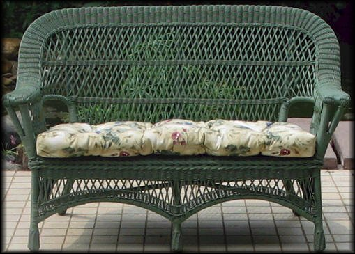 Mackinac Outdoor Wicker Loveseat Settee