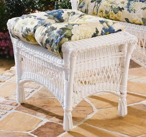 Mackinac Outdoor Wicker Ottoman
